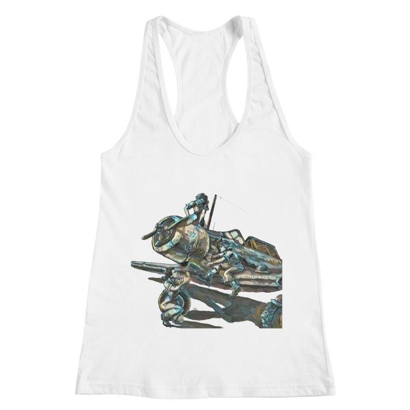 Navy Gals Women's Racerback Tank by Clare Bohning's Shop