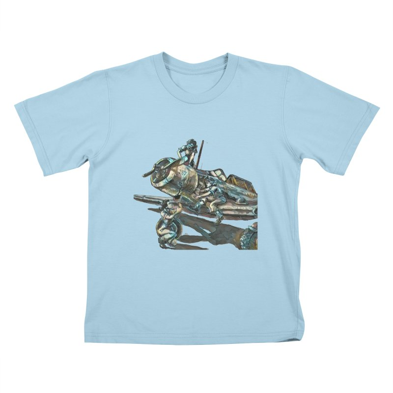 Navy Gals Kids T-Shirt by Clare Bohning's Shop
