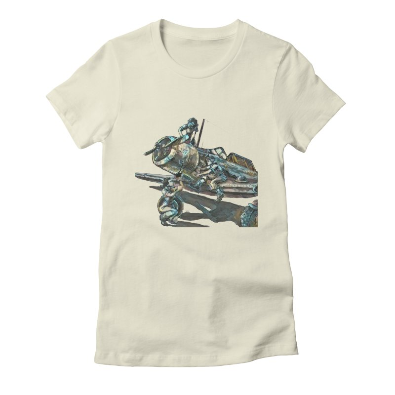 Navy Gals Women's Fitted T-Shirt by Clare Bohning's Shop
