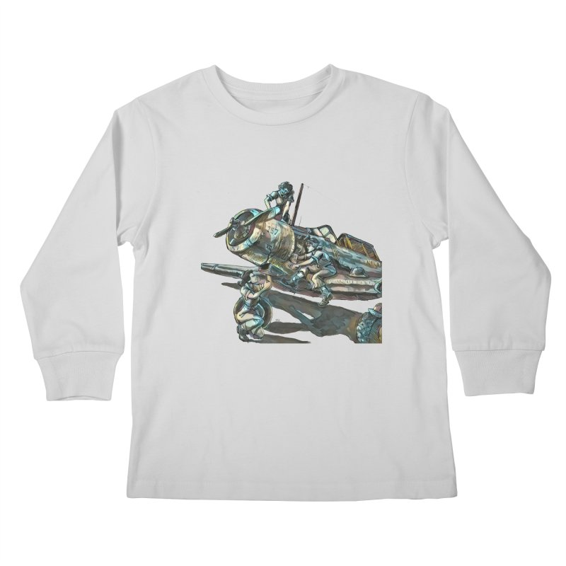 Navy Gals Kids Longsleeve T-Shirt by Clare Bohning's Shop