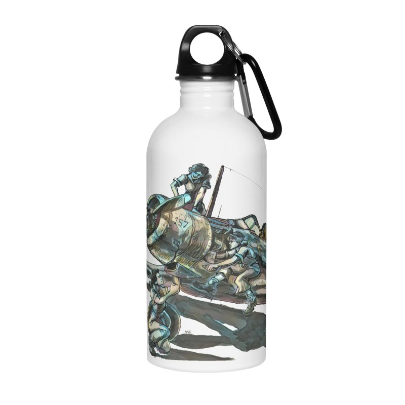 Navy Gals Accessories Water Bottle by Clare Bohning's Shop