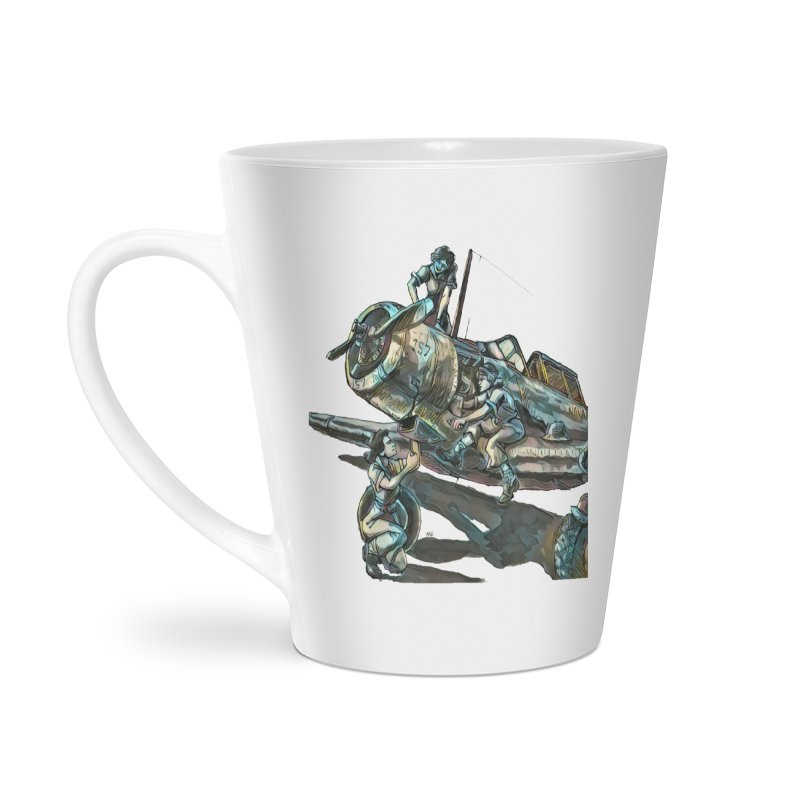 Navy Gals Accessories Latte Mug by Clare Bohning's Shop
