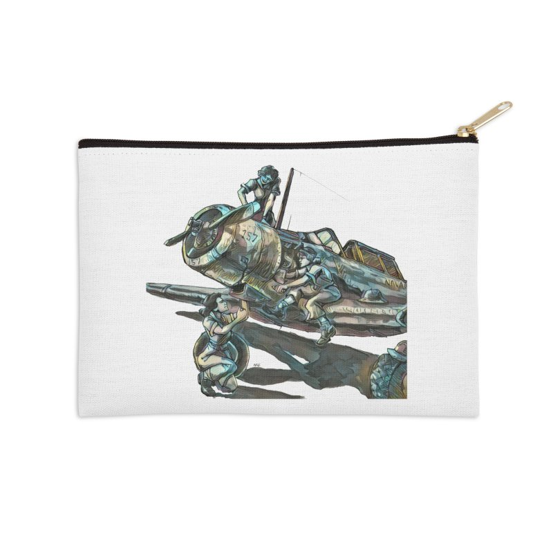 Navy Gals Accessories Zip Pouch by Clare Bohning's Shop