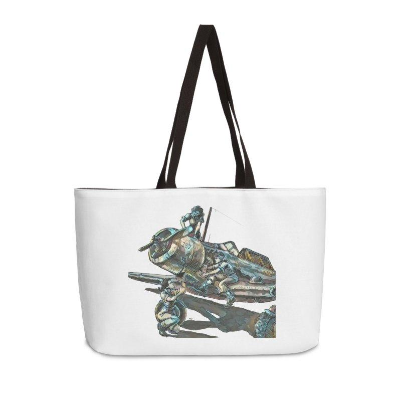 Navy Gals Accessories Weekender Bag Bag by Clare Bohning's Shop