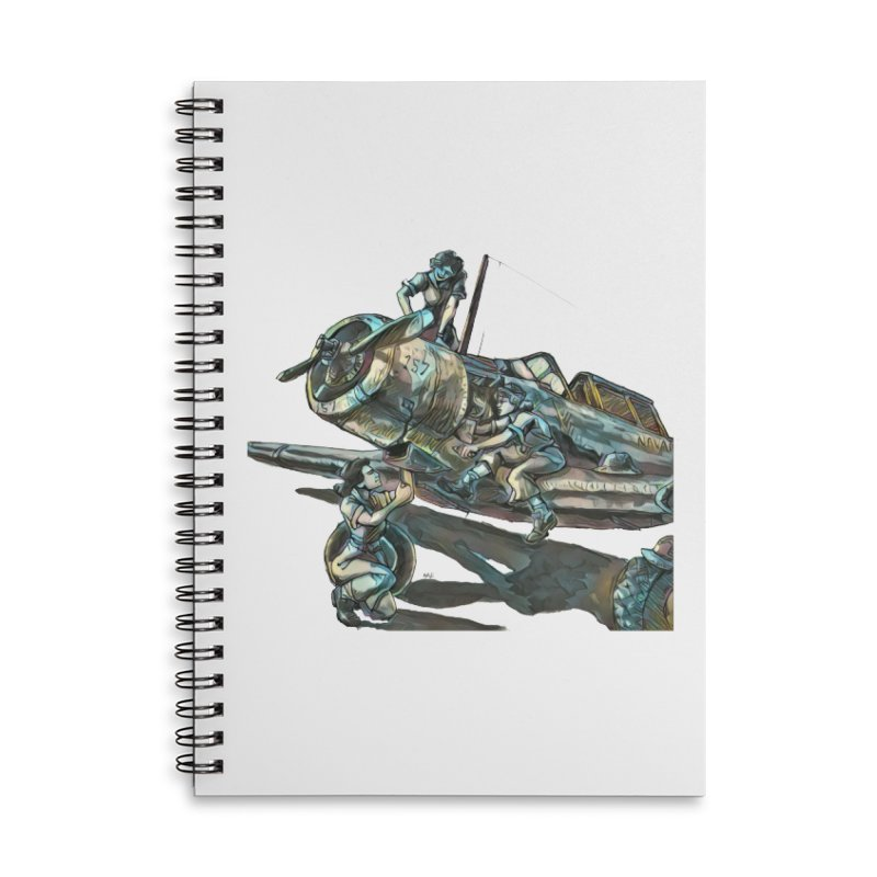 Navy Gals Accessories Lined Spiral Notebook by Clare Bohning's Shop