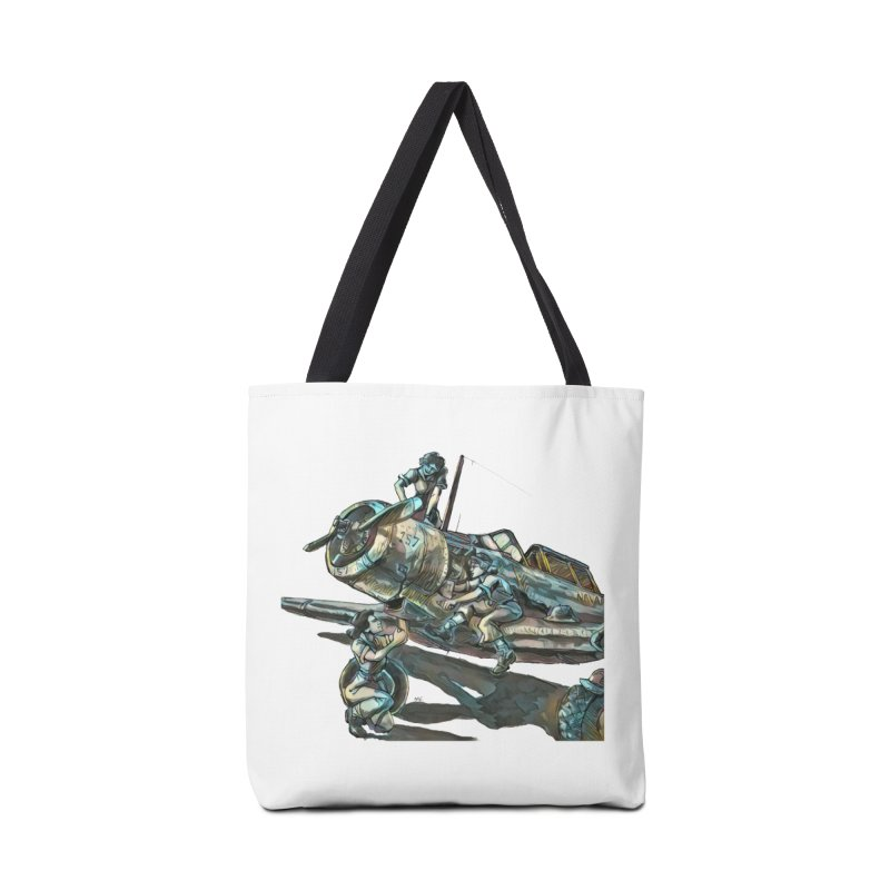 Navy Gals Accessories Tote Bag Bag by Clare Bohning's Shop