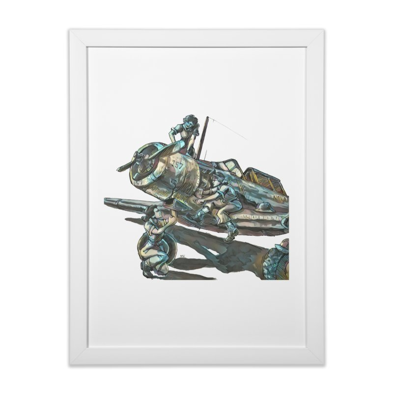 Navy Gals Home Framed Fine Art Print by Clare Bohning's Shop