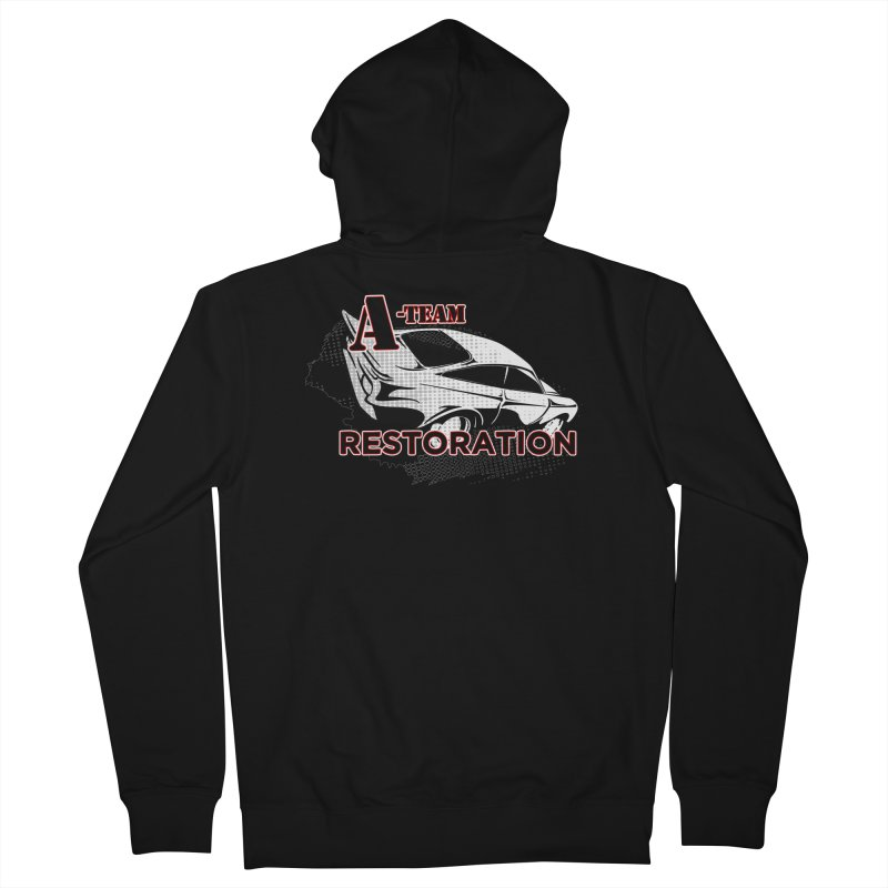 A-Team Restoration Men's French Terry Zip-Up Hoody by Clare Bohning's Shop