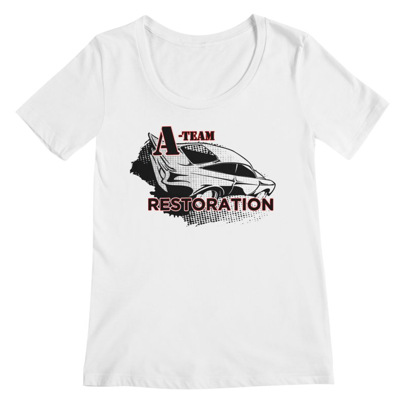 A-Team Restoration Women's Regular Scoop Neck by Clare Bohning's Shop