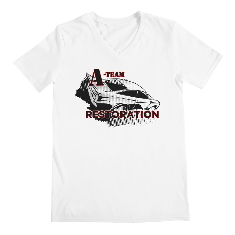 A-Team Restoration Men's Regular V-Neck by Clare Bohning's Shop