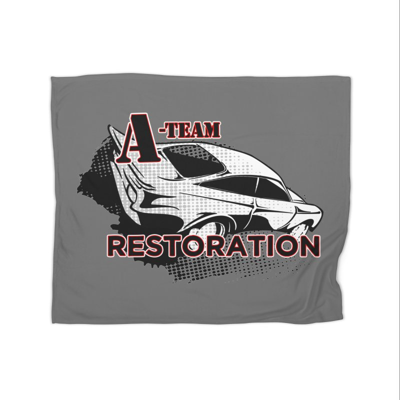 A-Team Restoration Home Fleece Blanket Blanket by Clare Bohning's Shop