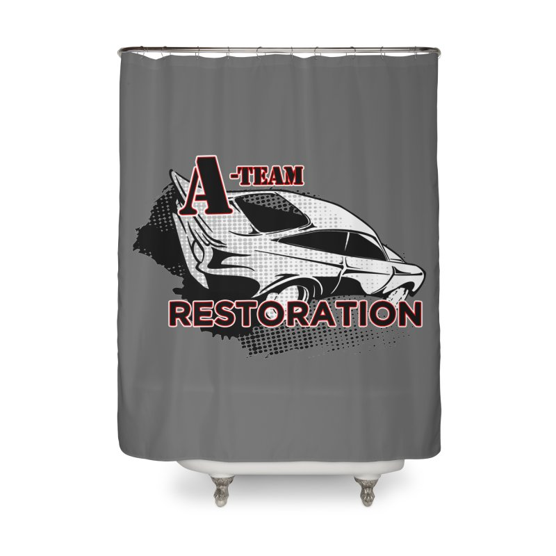 A-Team Restoration Home Shower Curtain by Clare Bohning's Shop