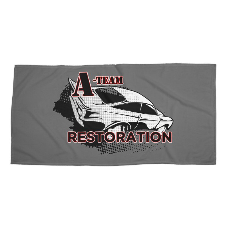 A-Team Restoration Accessories Beach Towel by Clare Bohning's Shop