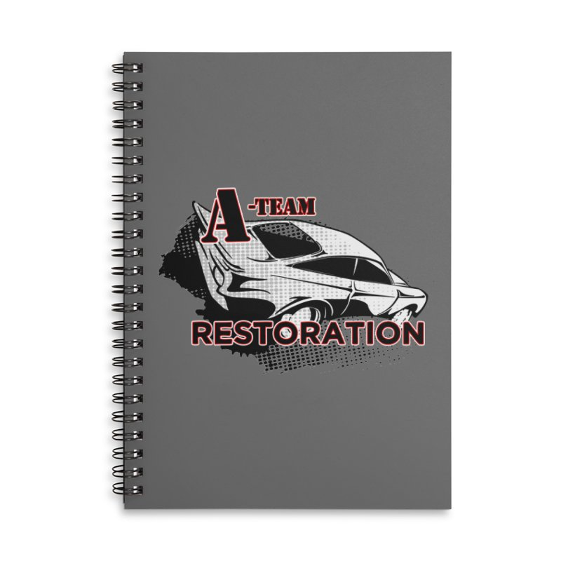 A-Team Restoration Accessories Lined Spiral Notebook by Clare Bohning's Shop
