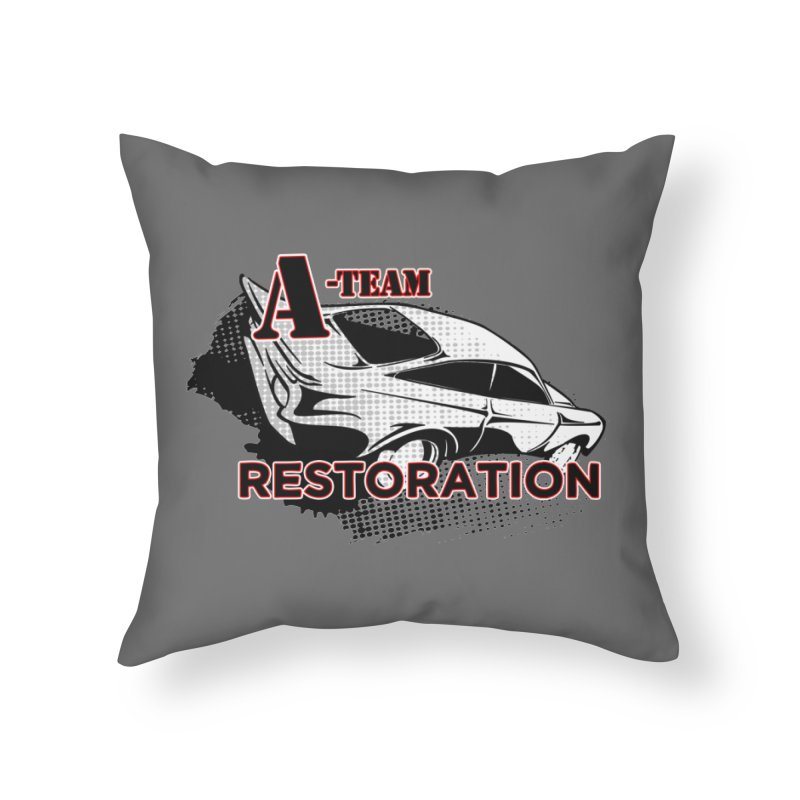 A-Team Restoration Home Throw Pillow by Clare Bohning's Shop