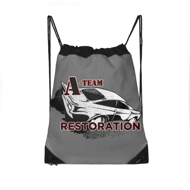 A-Team Restoration Accessories Drawstring Bag Bag by Clare Bohning's Shop