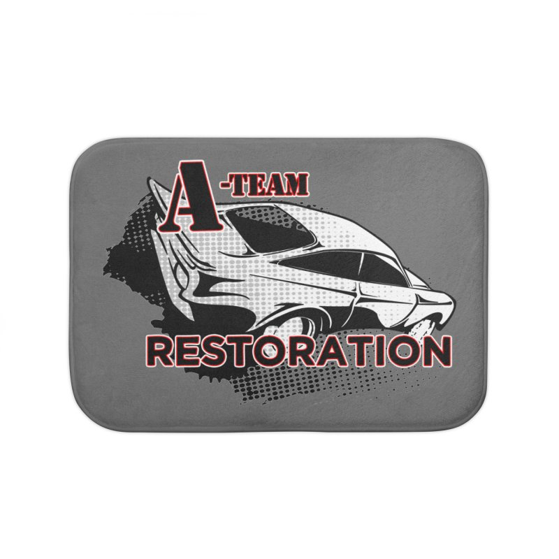 A-Team Restoration Home Bath Mat by Clare Bohning's Shop
