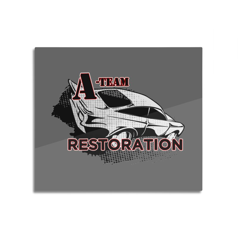 A-Team Restoration Home Mounted Aluminum Print by Clare Bohning's Shop