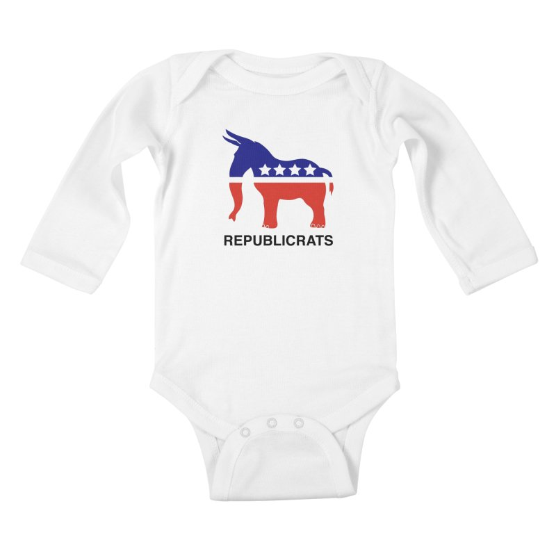 REPUBLICRATS Kids Baby Longsleeve Bodysuit by L33T GUY'S CRYPTO TEES