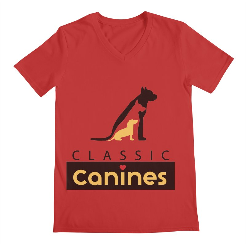 Classic Canines - TShirts & Sweatshirts Men's V-Neck by Classic Canines Gear