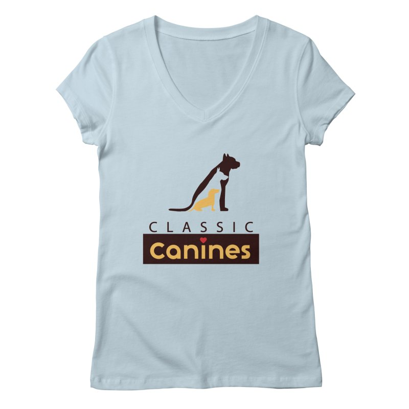 Classic Canines - TShirts & Sweatshirts Women's V-Neck by Classic Canines Gear