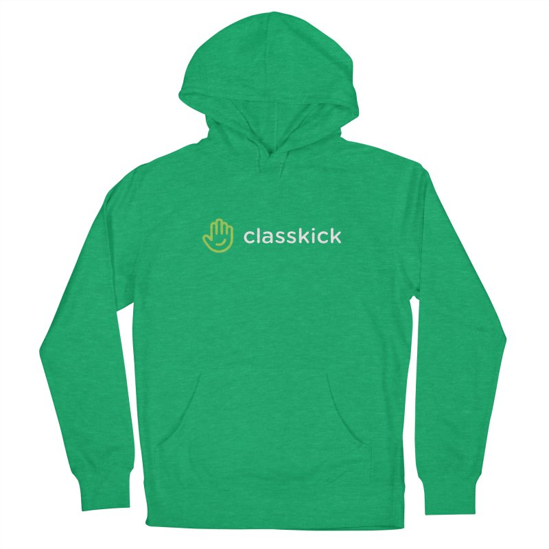 Classkick Logo Reverse Duotone Women's French Terry Pullover Hoody by Classkick's Artist Shop