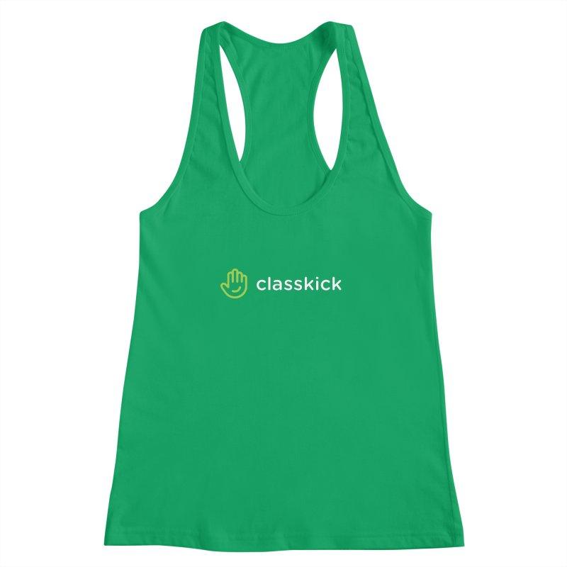 Classkick Logo Reverse Duotone Women's Racerback Tank by Classkick's Artist Shop