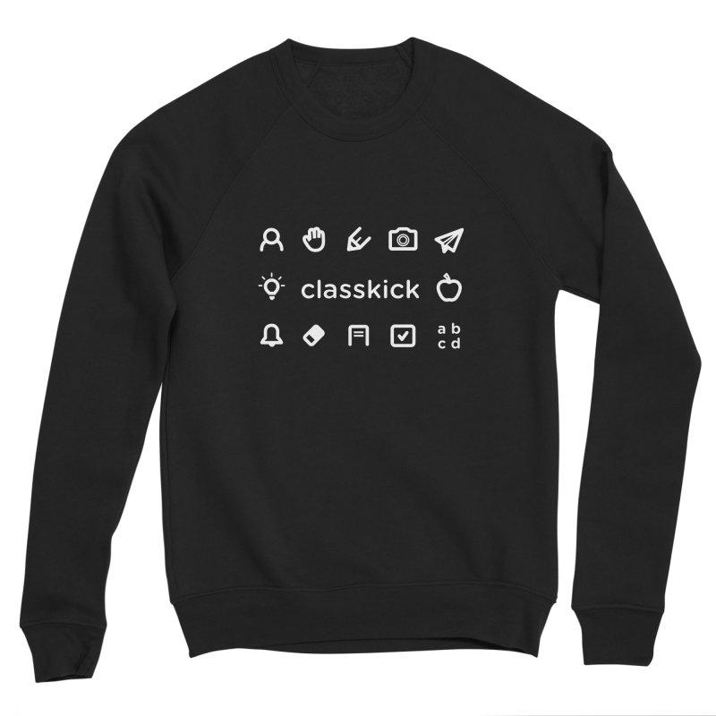 Classkick Icons White Men's Sponge Fleece Sweatshirt by Classkick's Artist Shop