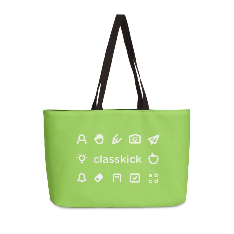 Classkick Icons White Accessories Weekender Bag Bag by Classkick's Artist Shop