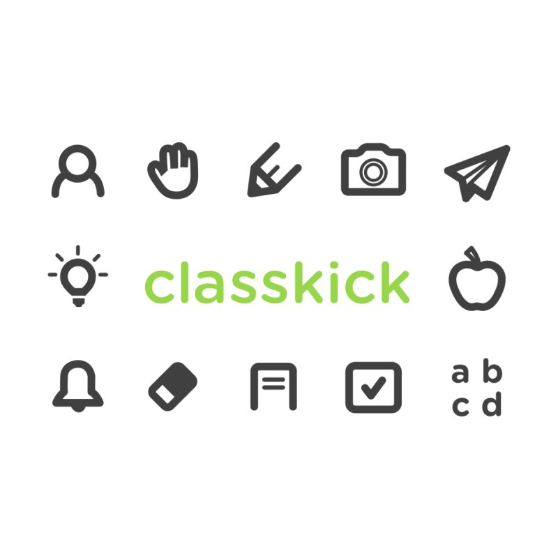 Classkick Icons Kids Baby T-Shirt by Classkick's Artist Shop