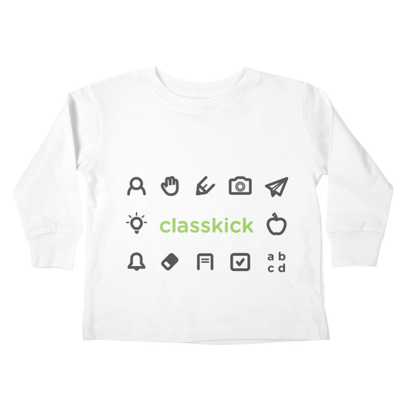 Classkick Icons Kids Toddler Longsleeve T-Shirt by Classkick's Artist Shop