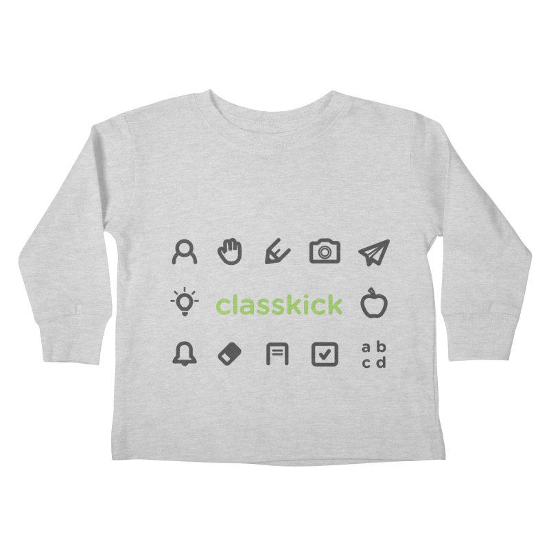 Classkick Icons Kids Toddler Longsleeve T-Shirt by Classkick's Artist Shop