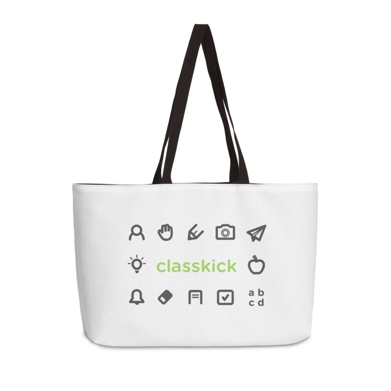 Classkick Icons Accessories Weekender Bag Bag by Classkick's Artist Shop