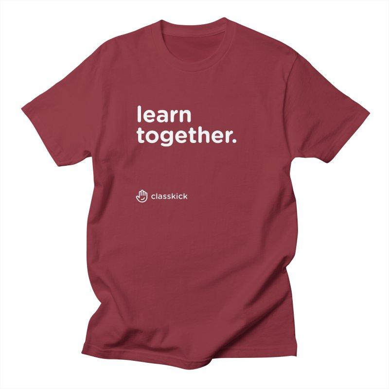 Learn Together White Women's Regular Unisex T-Shirt by Classkick's Artist Shop