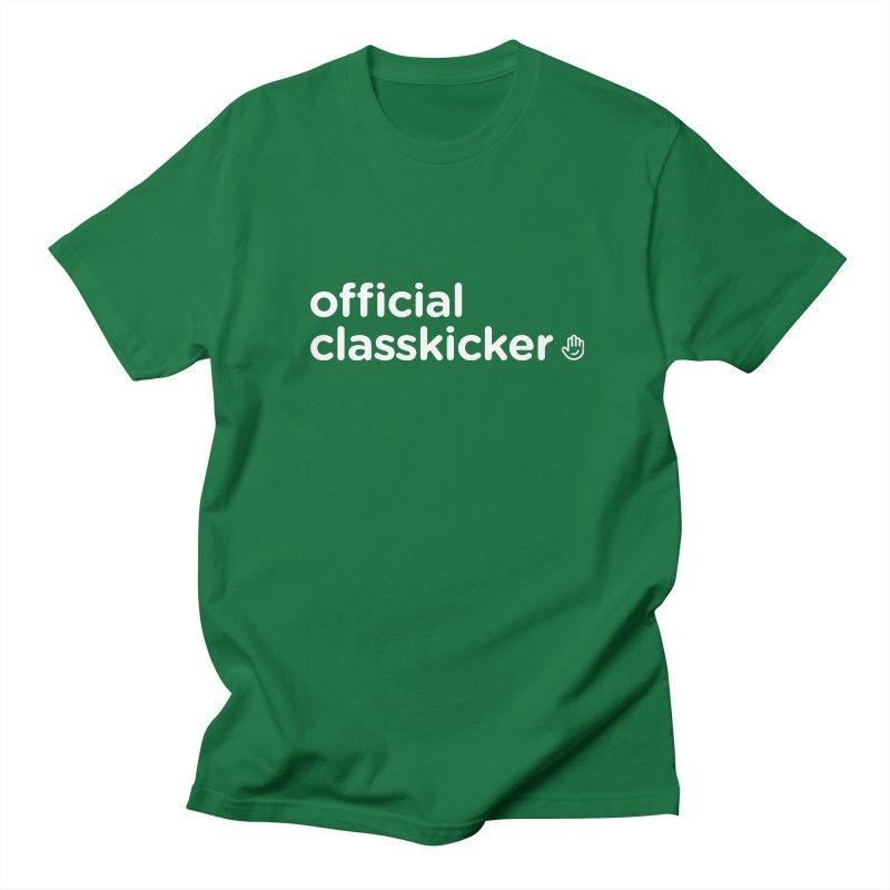 Official Classkicker in Men's Regular T-Shirt Kelly Green by Classkick's Artist Shop