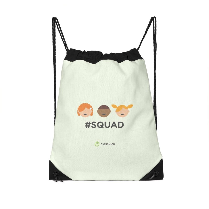 Squad Horizontal Accessories Drawstring Bag Bag by Classkick's Artist Shop