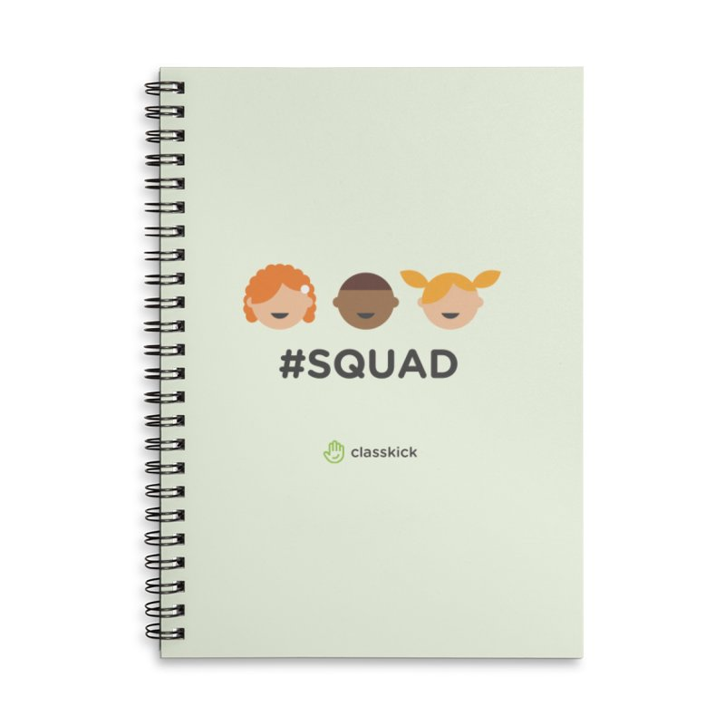 Squad Horizontal Accessories Lined Spiral Notebook by Classkick's Artist Shop