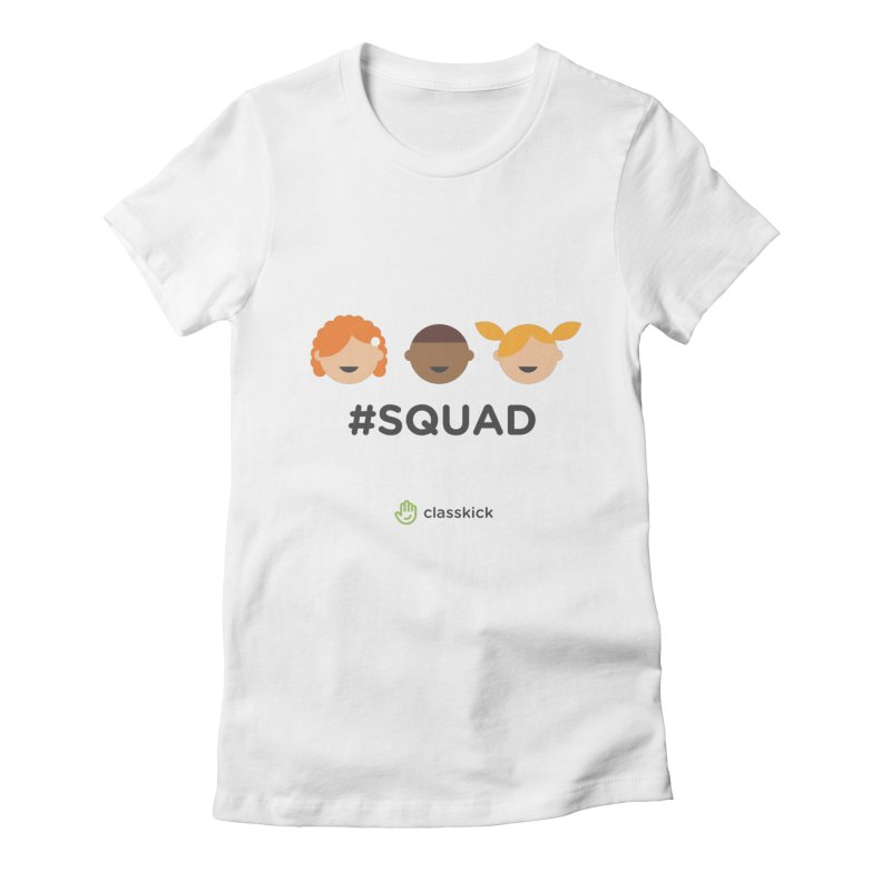 Squad Horizontal Women's Fitted T-Shirt by Classkick's Artist Shop