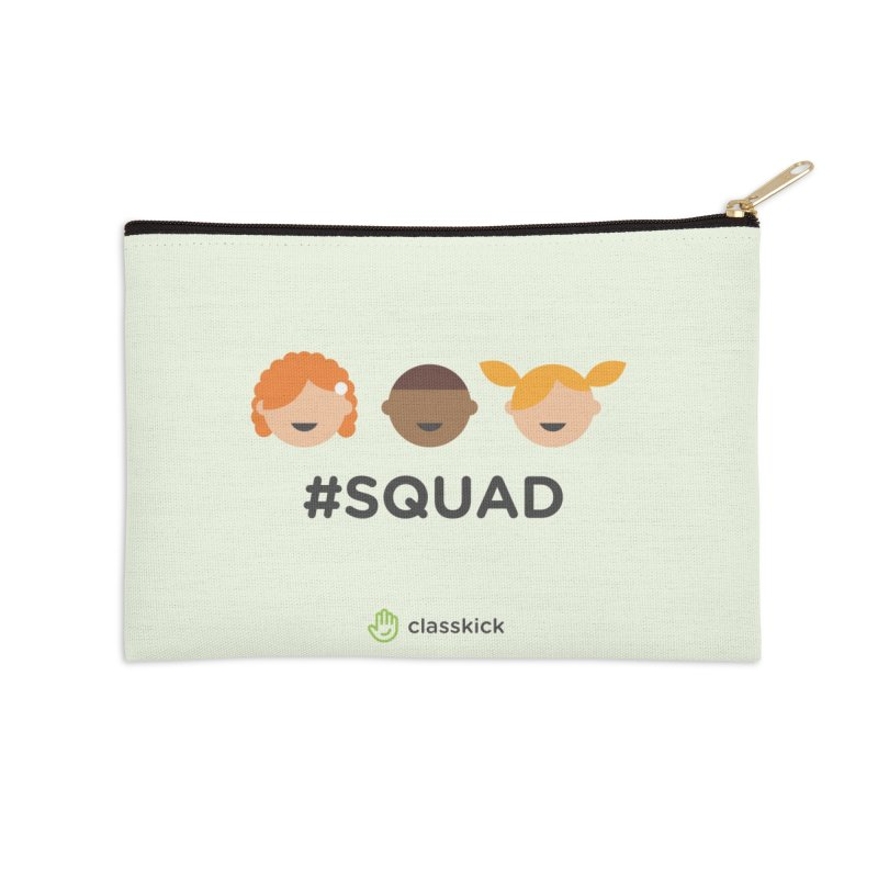 Squad Horizontal Accessories Zip Pouch by Classkick's Artist Shop