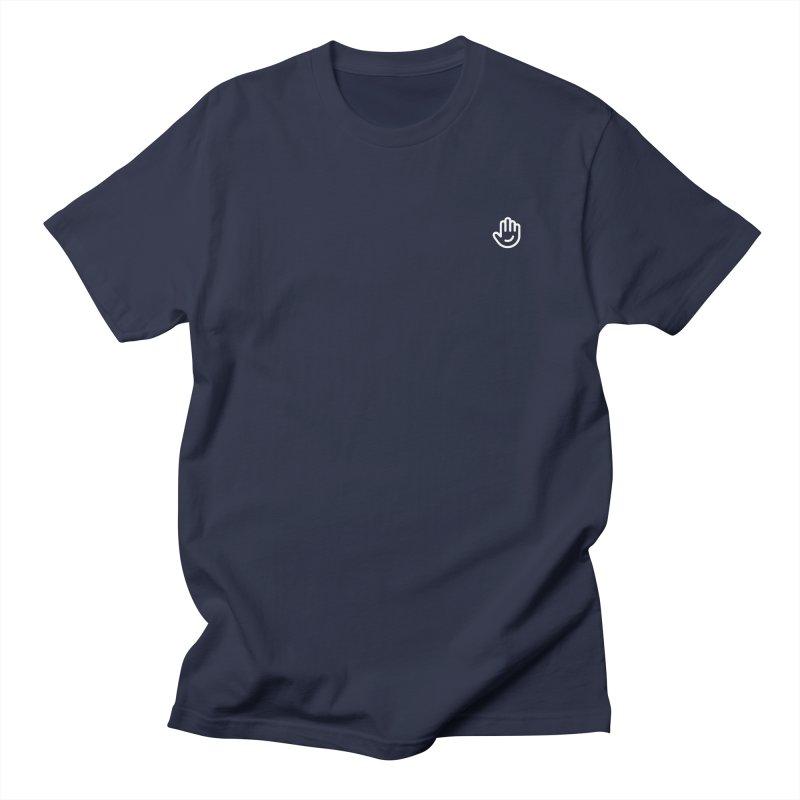 Logomark White in Women's Regular Unisex T-Shirt Navy by Classkick's Artist Shop