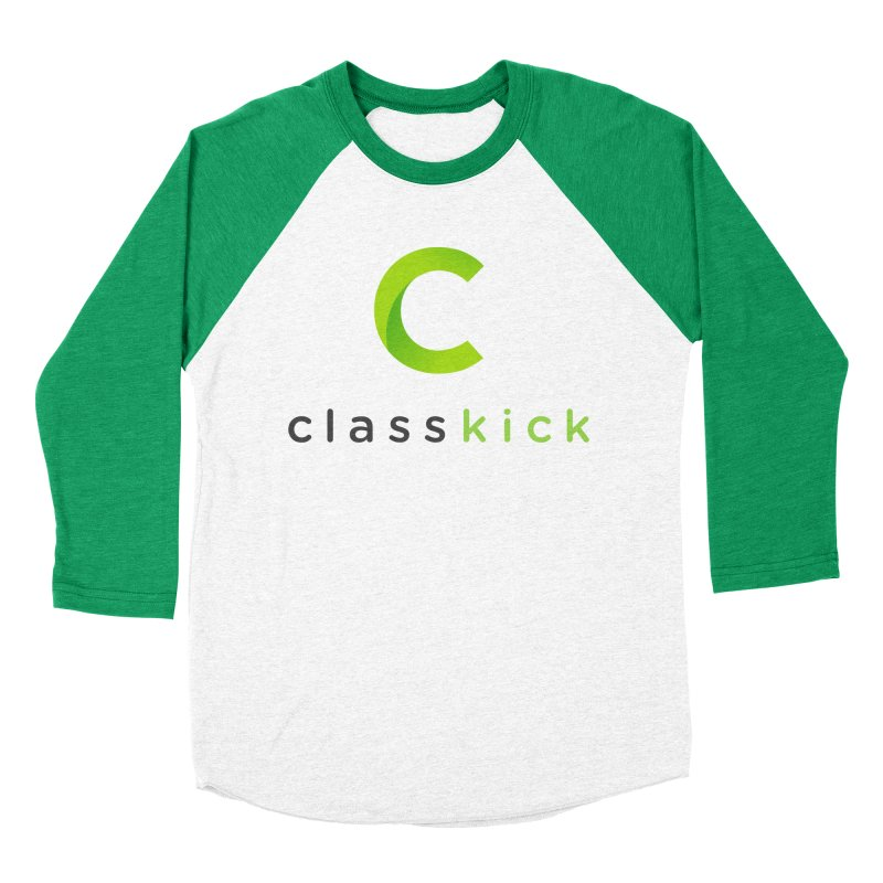 Classkick Logo in Men's Baseball Triblend T-Shirt Tri-Kelly Sleeves by Classkick's Artist Shop