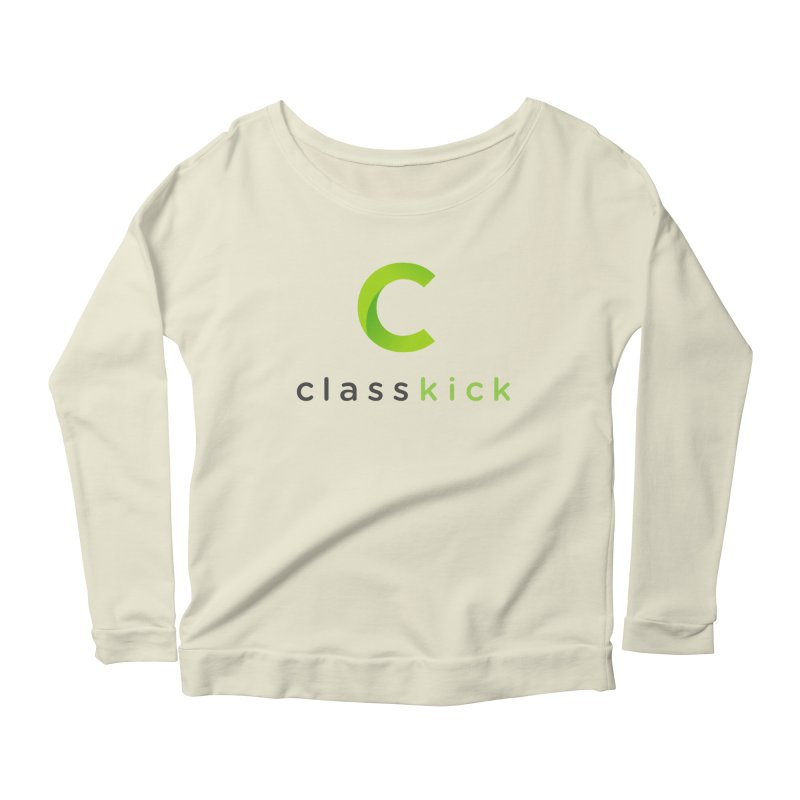Classkick Logo Women's Scoop Neck Longsleeve T-Shirt by Classkick's Artist Shop