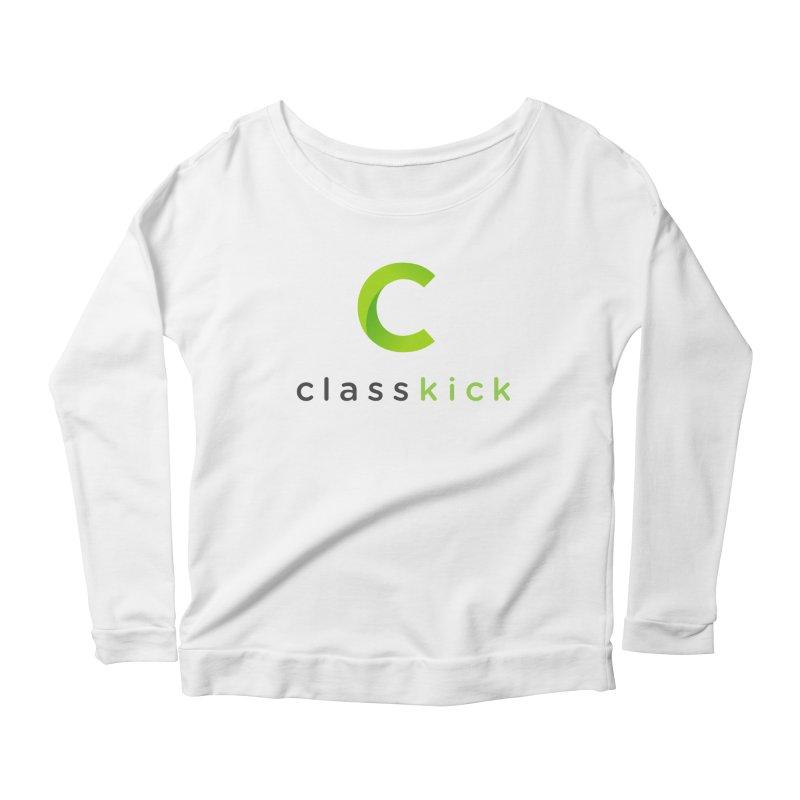 Classkick Logo Women's Longsleeve Scoopneck  by Classkick's Artist Shop