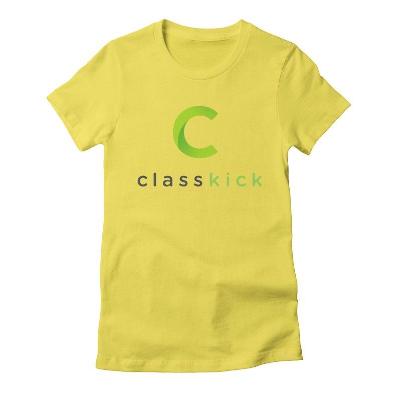 Classkick Logo Women's Fitted T-Shirt by Classkick's Artist Shop