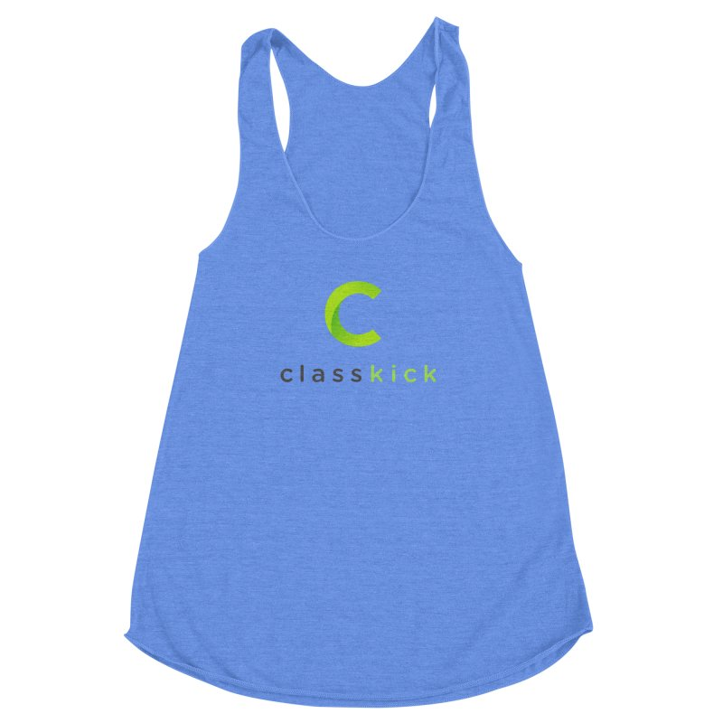 Classkick Logo Women's Racerback Triblend Tank by Classkick's Artist Shop