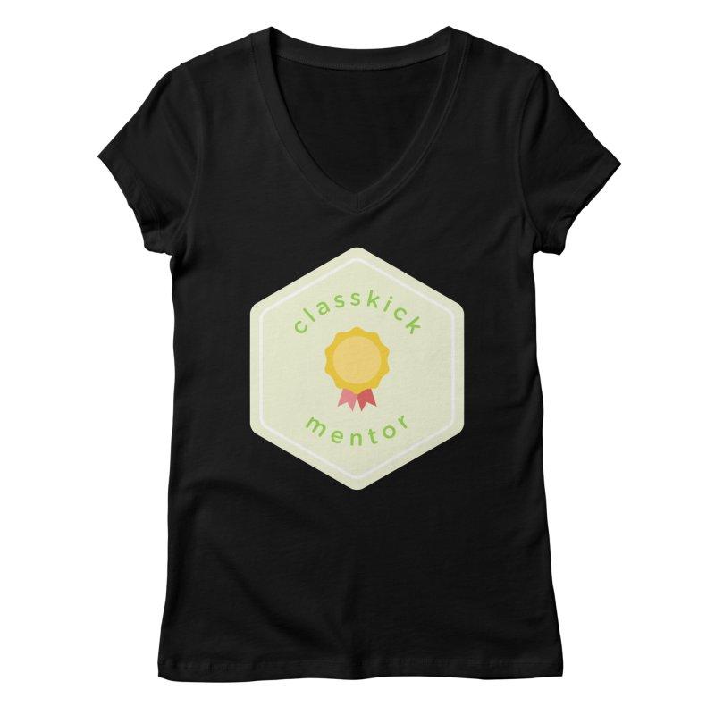 Classkick Mentor Women's V-Neck by Classkick's Artist Shop