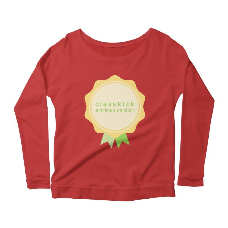 Classkick Ambassador Women's Scoop Neck Longsleeve T-Shirt by Classkick's Artist Shop