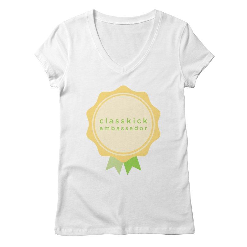 Classkick Ambassador Women's Regular V-Neck by Classkick's Artist Shop