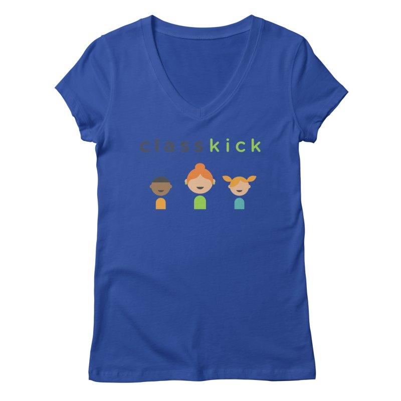 Classkick Classroom Women's V-Neck by Classkick's Artist Shop