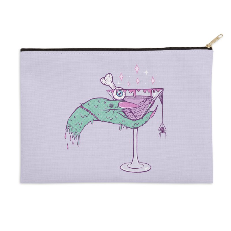 Monster Martini Accessories Zip Pouch by classycreeps's Artist Shop